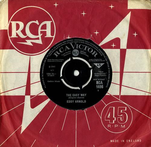 "Eddy Arnold The Easy Way 7"" vinyl single (7 inch record) UK AR907TH386094"