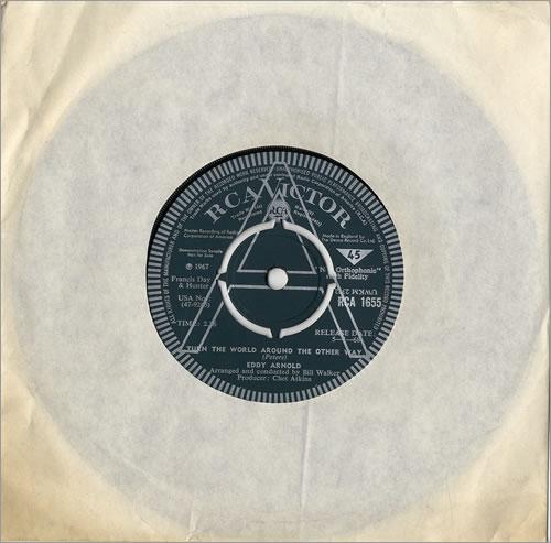 "Eddy Arnold Turn The World Around The Other Way 7"" vinyl single (7 inch record) UK AR907TU480853"