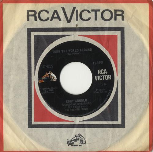 "Eddy Arnold Turn The World Around 7"" vinyl single (7 inch record) US AR907TU511413"
