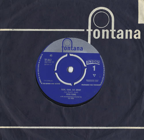 "Eden Kane Rain, Rain, Go Away 7"" vinyl single (7 inch record) UK EKA07RA419918"