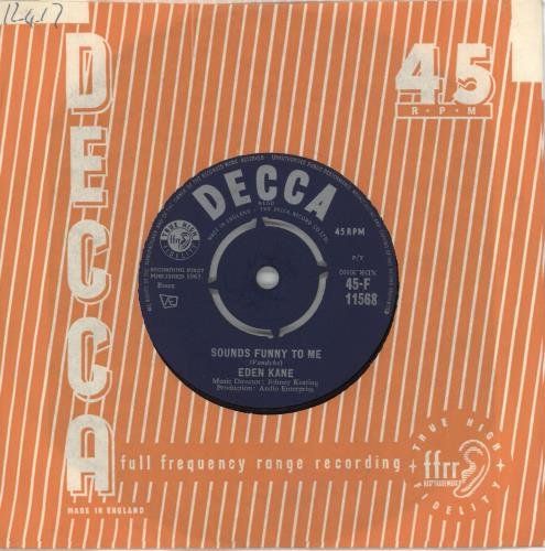 "Eden Kane Sounds Funny To Me 7"" vinyl single (7 inch record) UK EKA07SO718243"