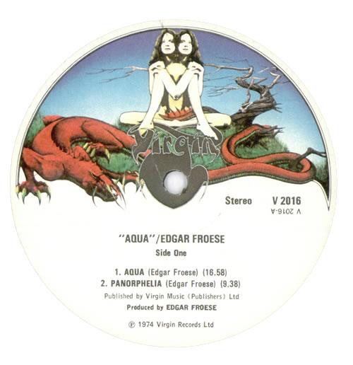 Edgar Froese Aqua - 1st vinyl LP album (LP record) UK FROLPAQ05841