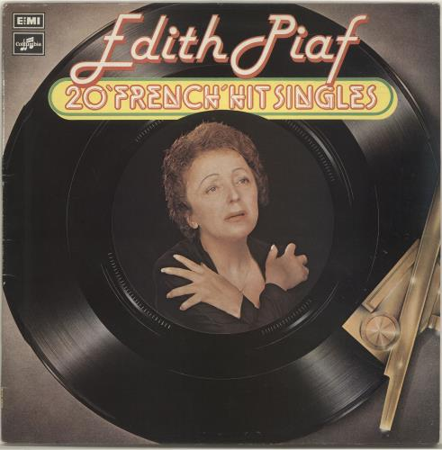 Edith Piaf 20 'French' Hit Singles vinyl LP album (LP record) UK EPFLPFR695461