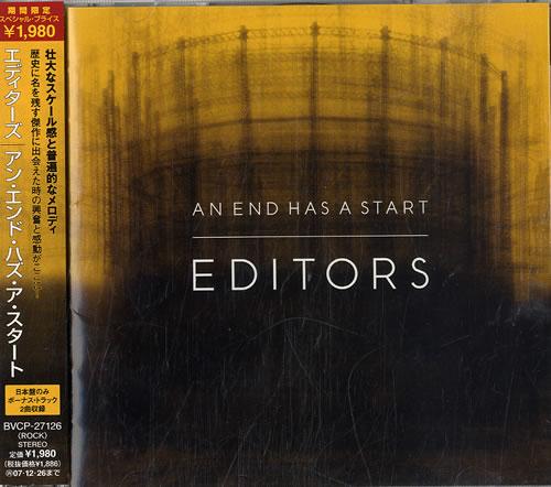 Editors An End Has A Start CD album (CDLP) Japanese EB7CDAN416592