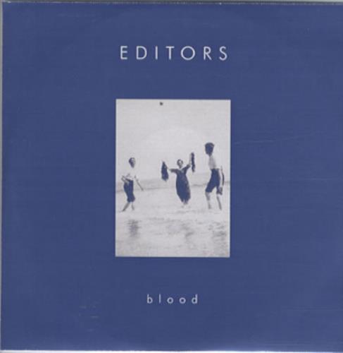 Editors Blood + picture insert CD-R acetate UK EB7CRBL342583