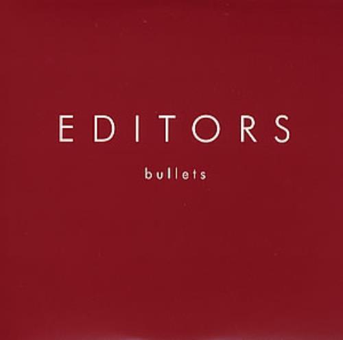 """Editors Bullets CD single (CD5 / 5"""") UK EB7C5BU352707"""