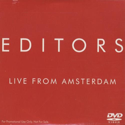 Editors Live From Amsterdam DVD Single US EB7DSLI439685