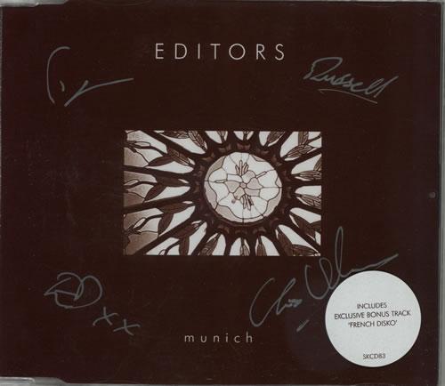 Editors Munich - Autographed 2-CD single set (Double CD single) UK EB72SMU574923