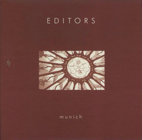 """Editors Munich 7"""" vinyl single (7 inch record) UK EB707MU344449"""