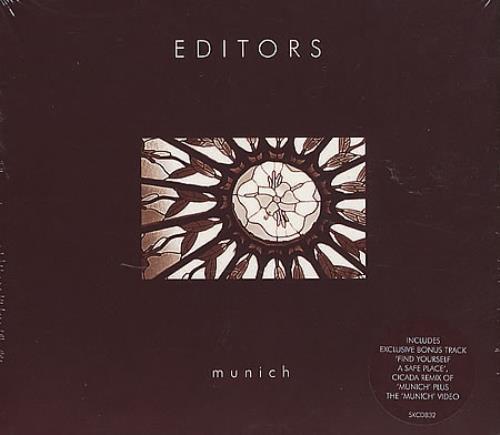 """Editors Munich CD single (CD5 / 5"""") UK EB7C5MU365687"""