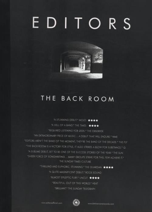 Editors The Back Room media press pack UK EB7PPTH432406