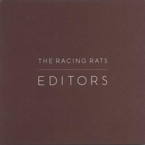 "Editors The Racing Rats CD single (CD5 / 5"") UK EB7C5TH664369"