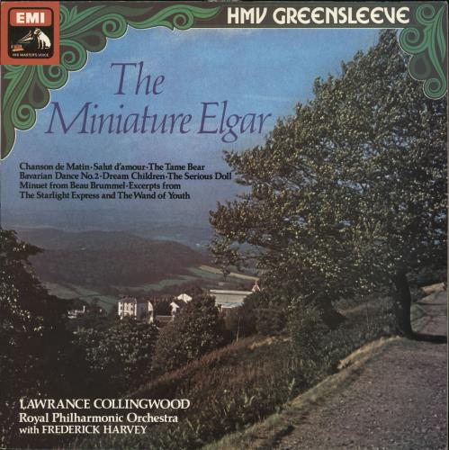 Edward Elgar The Miniature Elgar vinyl LP album (LP record) UK EFDLPTH723355