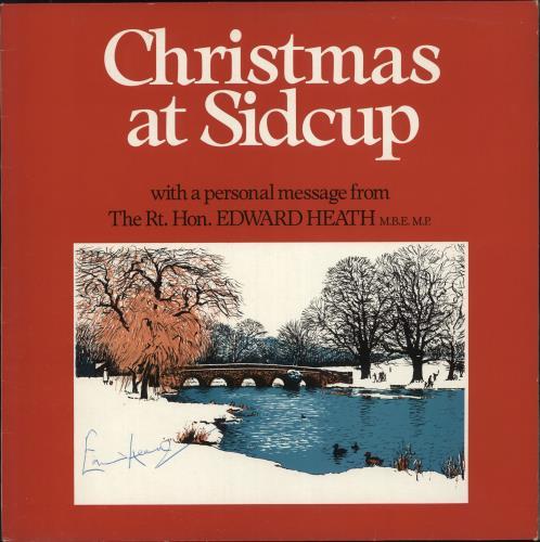 Edward Heath Christmas At Sidcup - Autographed vinyl LP album (LP record) UK EH2LPCH725821