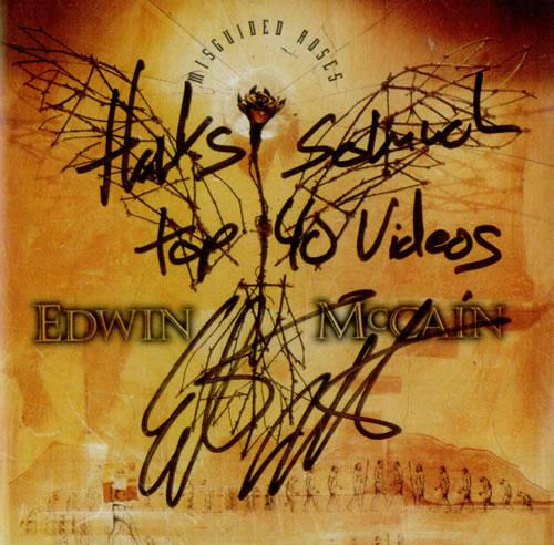 Edwin McCain Misguided Roses - Autographed CD album (CDLP) US EH4CDMI515574