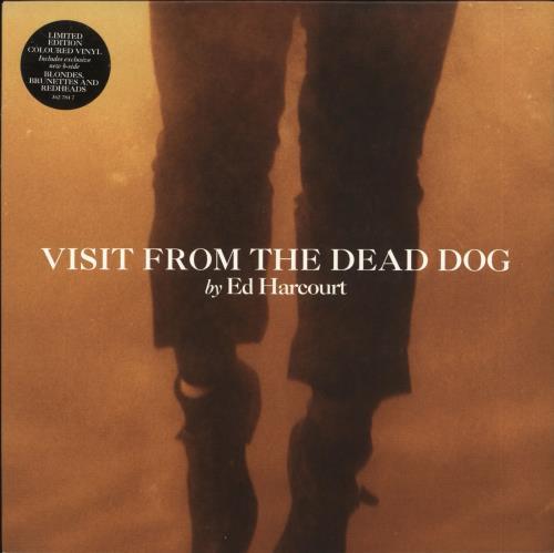 "Ed Harcourt Visit From The Dead Dog _ Orange vinyl 7"" vinyl single (7 inch record) UK EDT07VI360228"