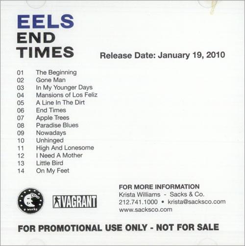 Eels End Times CD album (CDLP) US EELCDEN509975