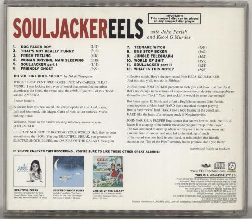 Eels Souljacker Japanese Cd Album Cdlp 192861