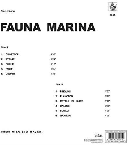 Egisto Macchi Fauna Marina - Clear Blue Vinyl - Sealed vinyl LP album (LP record) Italian 3KSLPFA767149