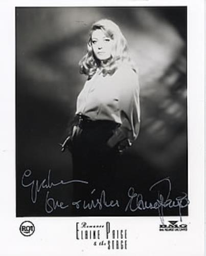Elaine Paige Autographed Publicity Photograph photograph UK EPGPHAU259372