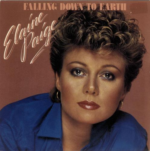 "Elaine Paige Falling Down To Earth 7"" vinyl single (7 inch record) UK EPG07FA696854"