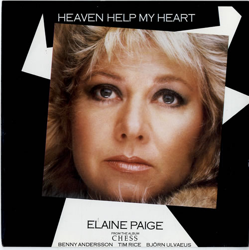 "Elaine Paige Heaven Help My Heart 7"" vinyl single (7 inch record) UK EPG07HE195709"