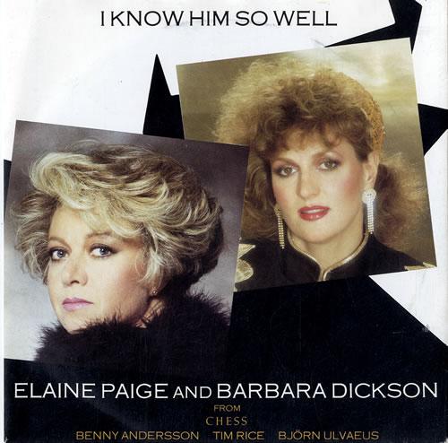 """Elaine Paige I Know Him So Well 7"""" vinyl single (7 inch record) UK EPG07IK304477"""