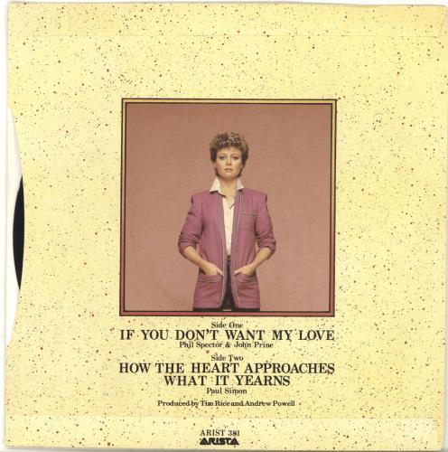 "Elaine Paige If You Don't Want My - 1st 7"" vinyl single (7 inch record) UK EPG07IF694275"