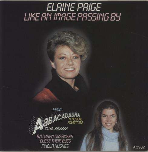 "Elaine Paige Like An Image Passing By 7"" vinyl single (7 inch record) UK EPG07LI684072"