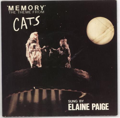 "Elaine Paige Memory - P/s 7"" vinyl single (7 inch record) UK EPG07ME738481"