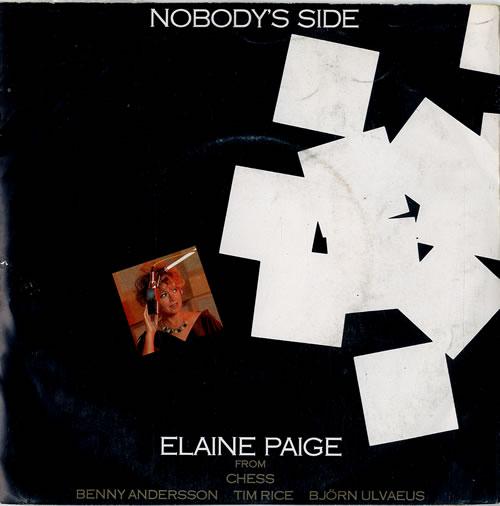"Elaine Paige Nobody's Side 7"" vinyl single (7 inch record) Portugese EPG07NO592474"