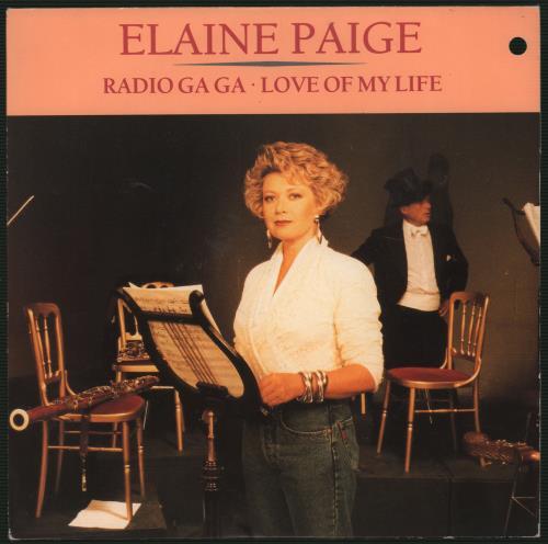 "Elaine Paige Radio Ga Ga 7"" vinyl single (7 inch record) UK EPG07RA110699"