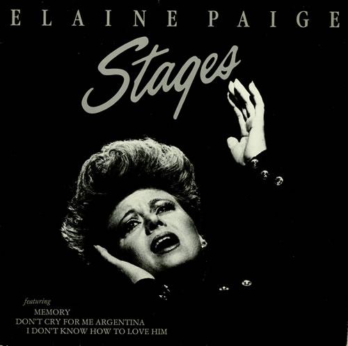 Elaine Paige Stages vinyl LP album (LP record) German EPGLPST458383
