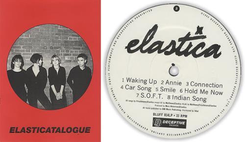 Elastica Elastica + Flexi/Booklet - EX vinyl LP album (LP record) UK ELALPEL42869
