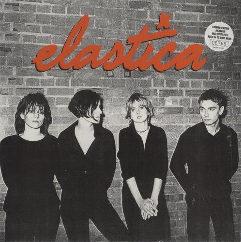 Elastica Elastica + Flexi/Booklet vinyl LP album (LP record) UK ELALPEL622119