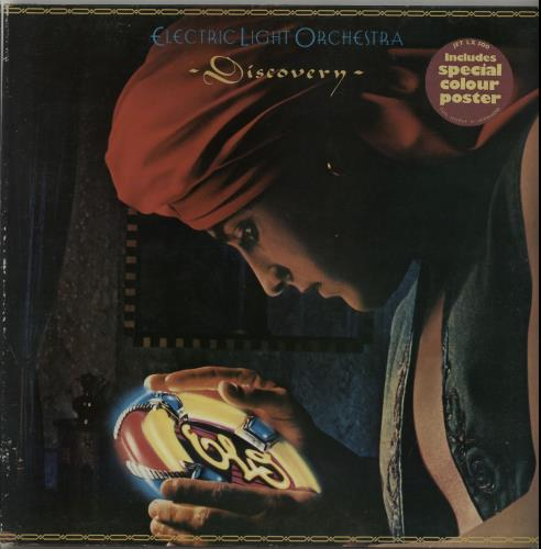 Electric Light Orchestra Discovery - Stickered Sleeve + Poster vinyl LP album (LP record) UK ELOLPDI654544