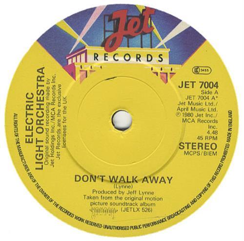 "Electric Light Orchestra Don't Walk Away 7"" vinyl single (7 inch record) UK ELO07DO172104"