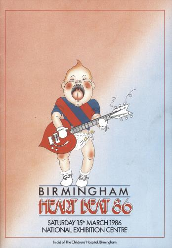 Electric Light Orchestra Heart Beat 86 tour programme UK ELOTRHE728729