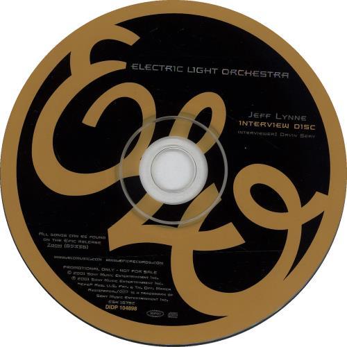 Electric Light Orchestra Jeff Lynne Interview Disc CD album (CDLP) US ELOCDJE191328