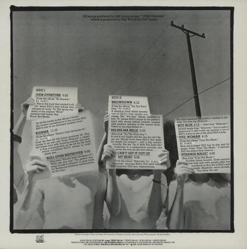 Electric Light Orchestra Ole ELO vinyl LP album (LP record) Canadian ELOLPOL751714