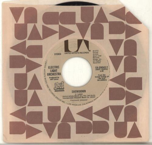 "Electric Light Orchestra Showdown 7"" vinyl single (7 inch record) US ELO07SH702165"