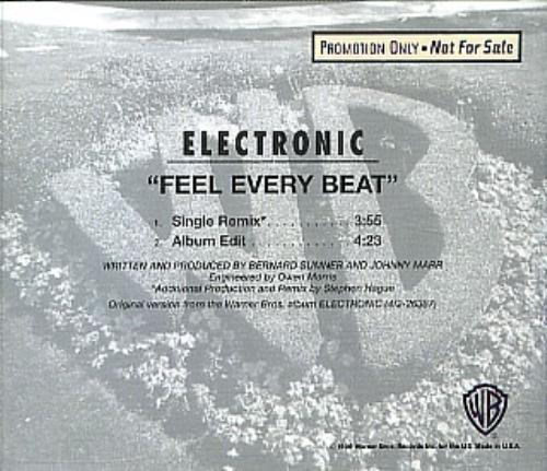 "Electronic Feel Every Beat CD single (CD5 / 5"") US ELEC5FE02204"