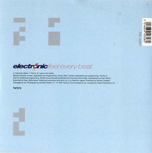 "Electronic Feel Every Beat 7"" vinyl single (7 inch record) UK ELE07FE59867"