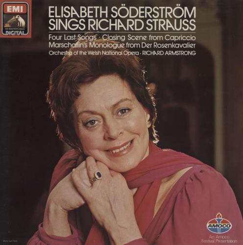 Elisabeth Söderström Elisabeth Söderström Sings Richard Strauss vinyl LP album (LP record) UK 23ILPEL758429