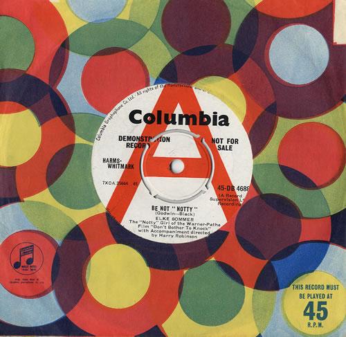 "Elke Sommer Be Not 'Notty' - A Label 7"" vinyl single (7 inch record) UK EKR07BE482075"