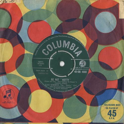 """Elke Sommer Be Not 'Notty' 7"""" vinyl single (7 inch record) UK EKR07BE493136"""