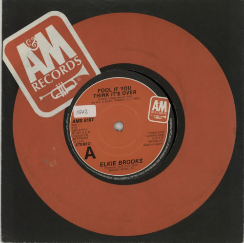 "Elkie Brooks Fool If You Think It's Over 7"" vinyl single (7 inch record) UK EKB07FO385701"