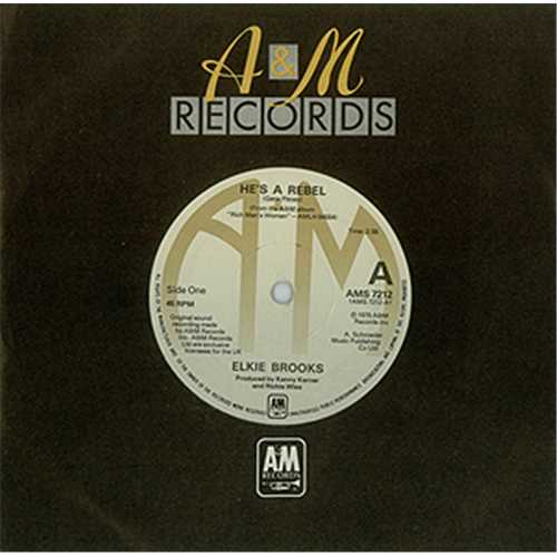 "Elkie Brooks He's A Rebel 7"" vinyl single (7 inch record) UK EKB07HE406059"