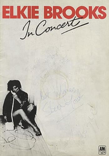 Elkie Brooks In Concert - Fully Autographed! tour programme UK EKBTRIN335375