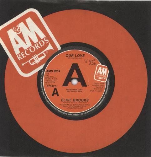 """Elkie Brooks Our Love 7"""" vinyl picture disc 7 inch picture disc single UK EKB7POU730931"""